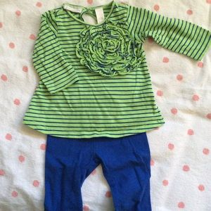 Green and Blue Infant Outfit